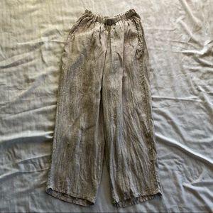 Flax beige linen pants size S